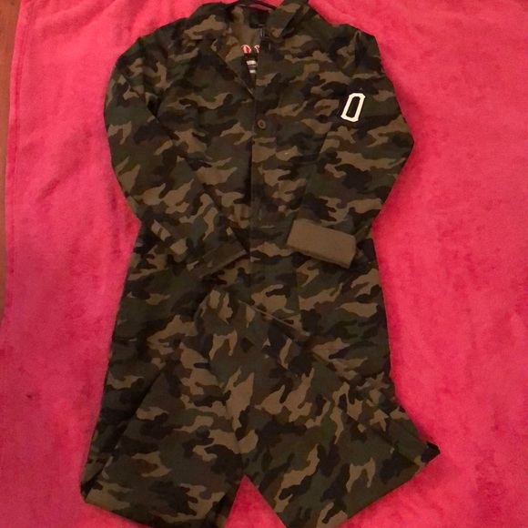 Forever 21 Pants Camouflage Jumpsuit Poshmark